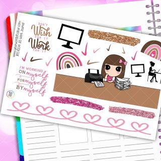 Work Journaling Iris Planner Stickers