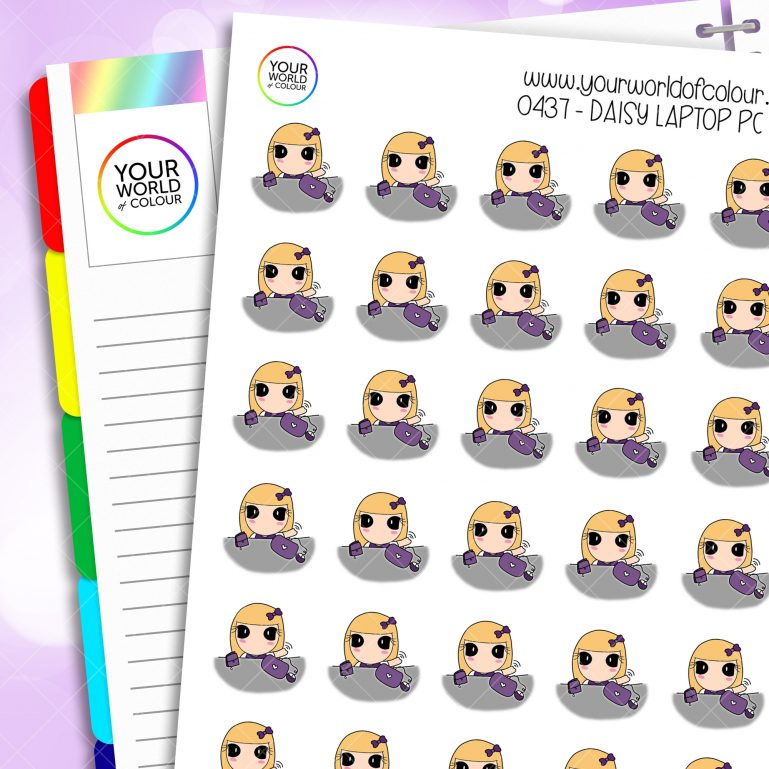 Laptop Pc Daisy Character Stickers