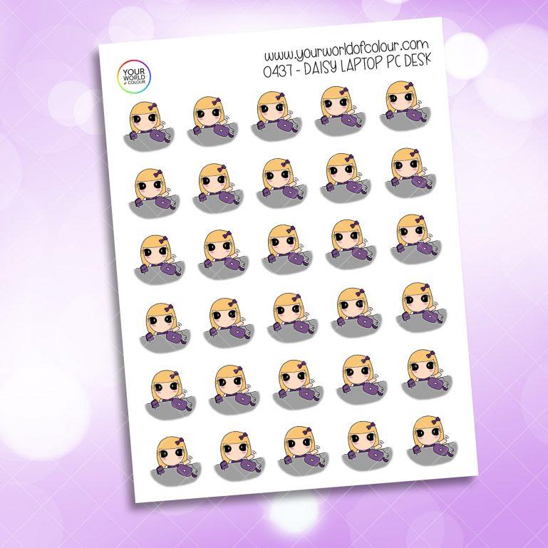 Laptop Pc Daisy Character Sticker