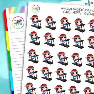 Treadmill Poppy Character Stickers