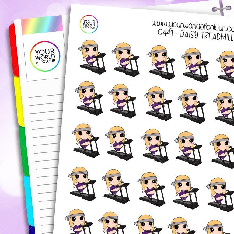 Treadmill Daisy Character Stickers