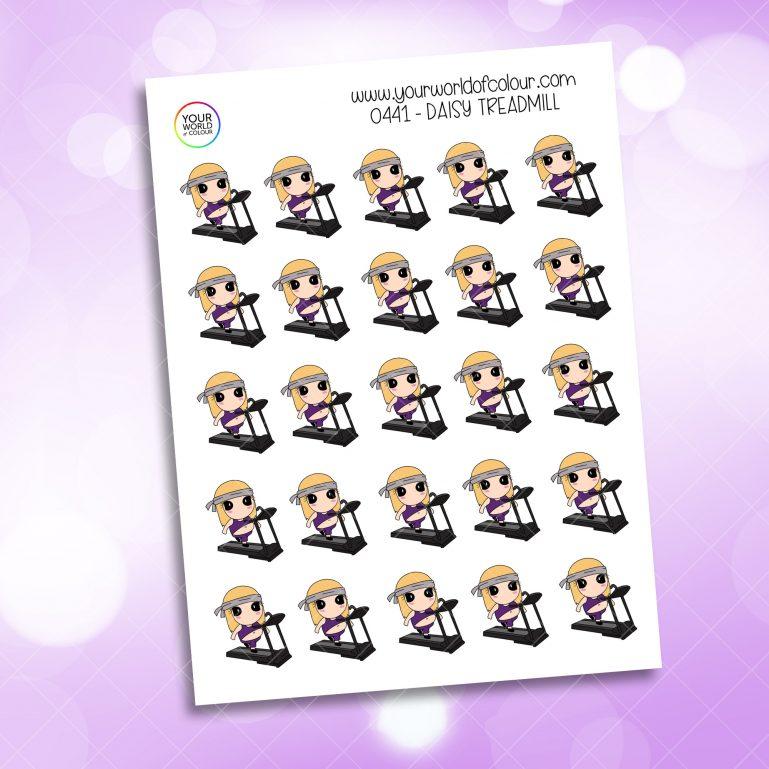 Treadmill Daisy Character Sticker