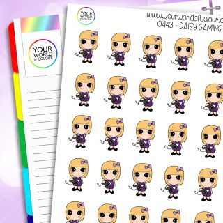 Gaming Daisy Character Stickers