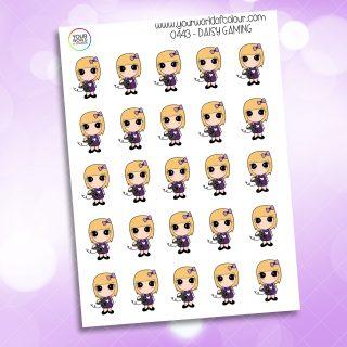 Gaming Daisy Character Sticker