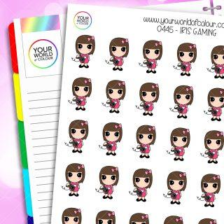Gaming Iris Character Stickers