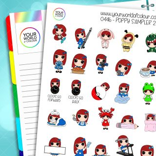 Poppy Sampler Character Stickers - 2.0