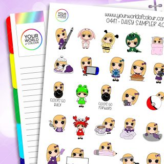 Daisy Sampler Character Stickers - 4.0