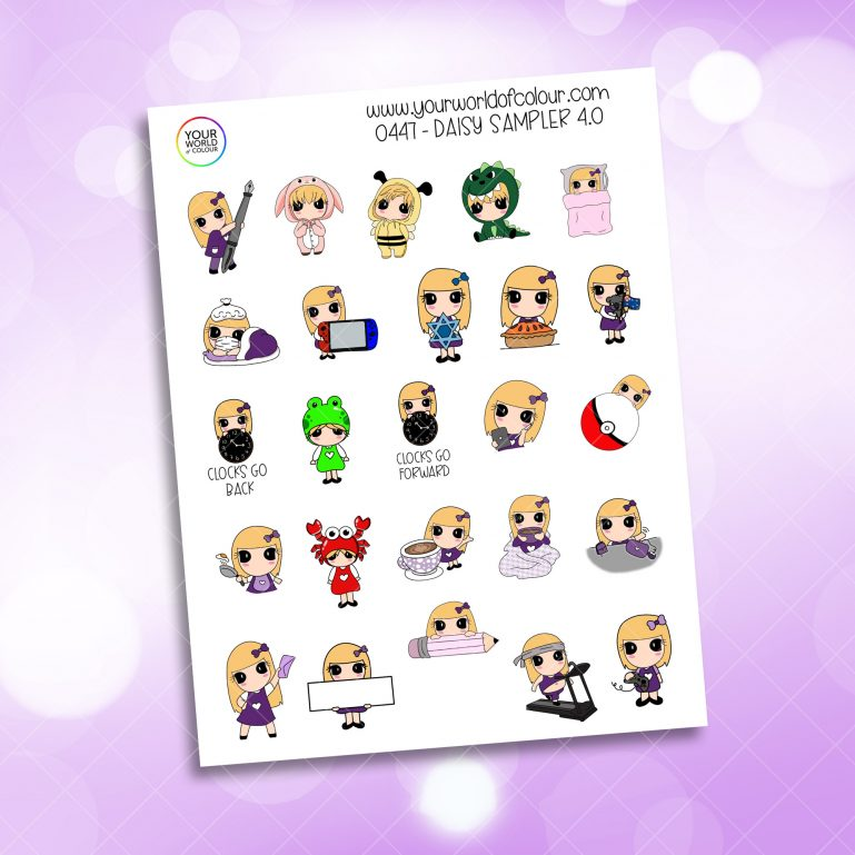 Daisy Sampler Character Stickers - 4