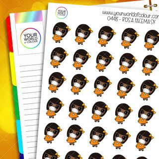 Facemask Rosa Character Stickers