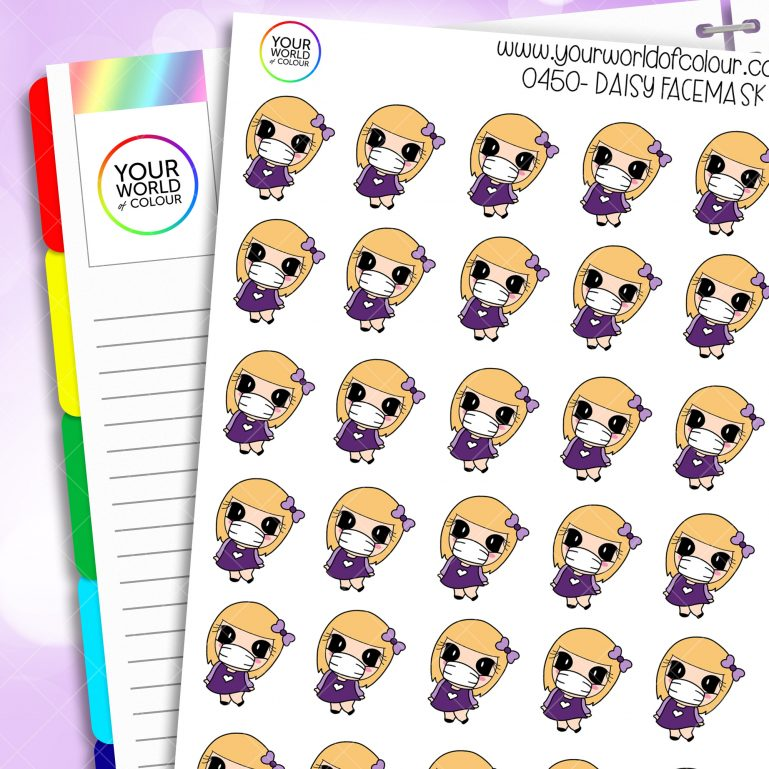 Facemask Daisy Character Stickers