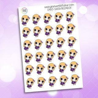 Facemask Daisy Character Sticker