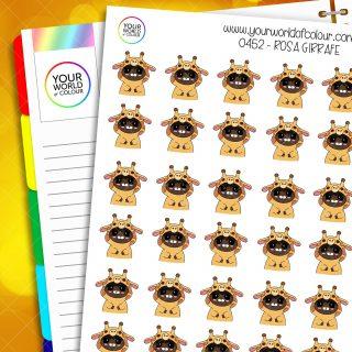Giraffe Rosa Character Stickers