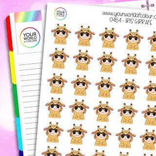 Giraffe Iris Character Stickers