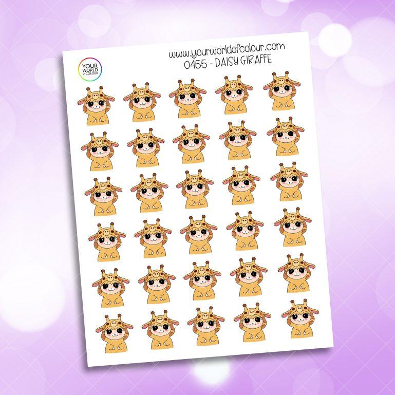 Giraffe Daisy Character Sticker