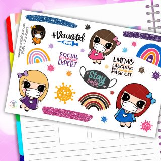 Virus Journaling Planner Stickers