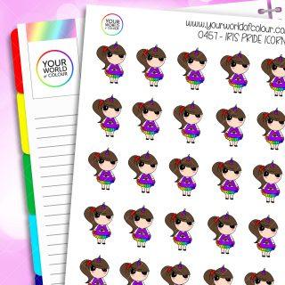 Iris Pride Icorn Character Stickers