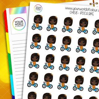 Bike Rosa Character Stickers