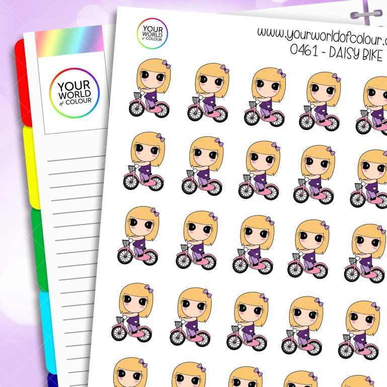 Bike Daisy Character Stickers