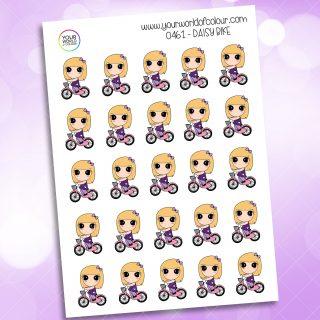 Bike Daisy Character Sticker