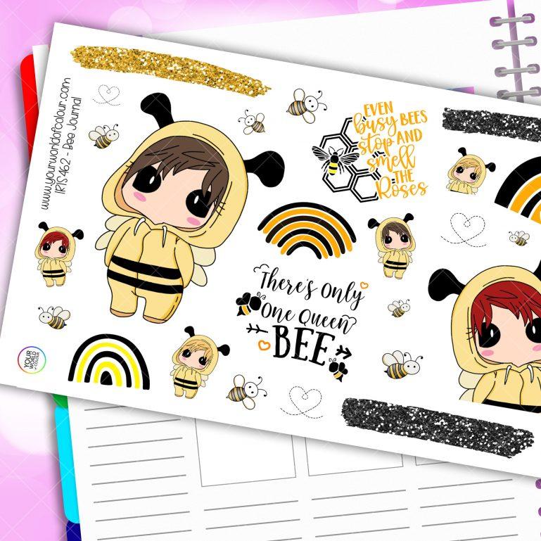 Bee Journaling Planner Stickers