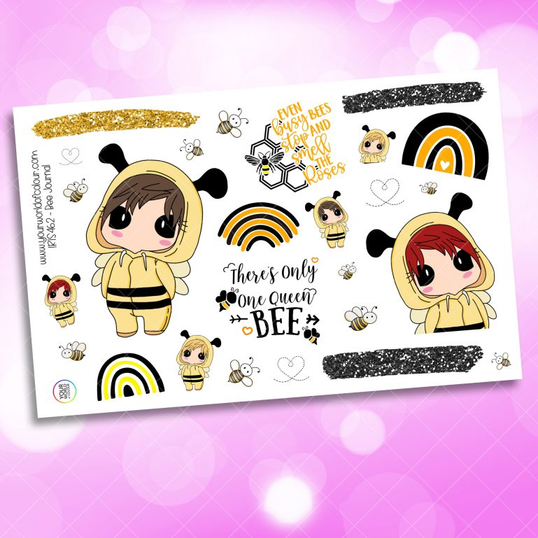Bee Journaling Planner Sticker