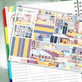 Bedroom of dreams Passion Planner Daily Sticker Kit