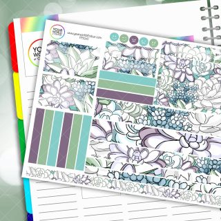 Cactus Passion Planner Daily Sticker Kit