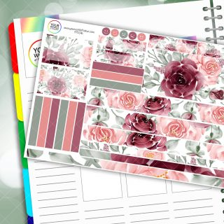 Watercolour Flowers Passion Planner Daily Sticker Kit
