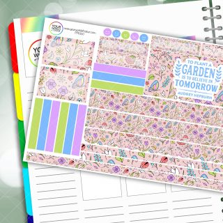 Plant A Garden Passion Planner Daily Sticker Kit