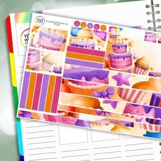 Birthday Passion Planner Daily Sticker Kit