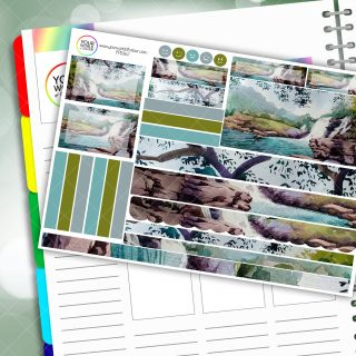 Waterfalls Passion Planner Daily Sticker Kit