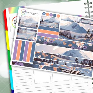 Mountain Floral Passion Planner Daily Sticker Kit