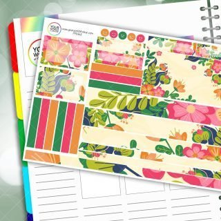 Floral Spread Passion Planner Daily Sticker Kit