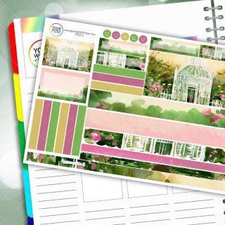 Watercolour Gazebo Passion Planner Daily Sticker Kit