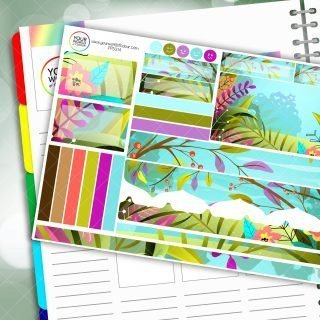 Bright Flowers Passion Planner Daily Sticker Kit
