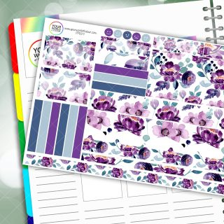 Floral Melody Passion Planner Daily Sticker Kit