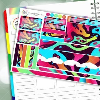 90s Marble Passion Planner Daily Sticker Kit