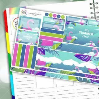 Flamingo Summer Passion Planner Daily Sticker Kit