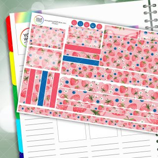 Strawberry Dream Passion Planner Daily Sticker Kit