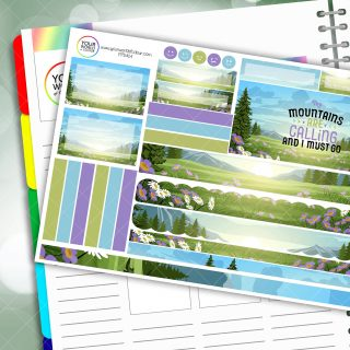 Mountains Calling Passion Planner Daily Sticker Kit