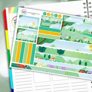 Summer Meadow Passion Planner Daily Sticker Kit