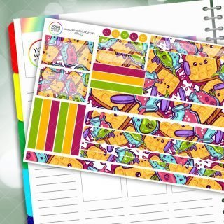 Kawaii Berry Passion Planner Daily Sticker Kit