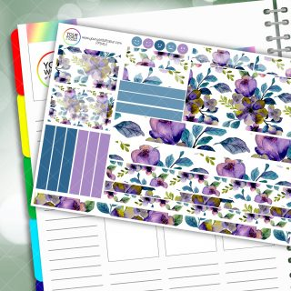 Floral Fantasy Passion Planner Daily Sticker Kit