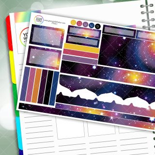 Galaxy 3.0 Passion Planner Daily Sticker Kit