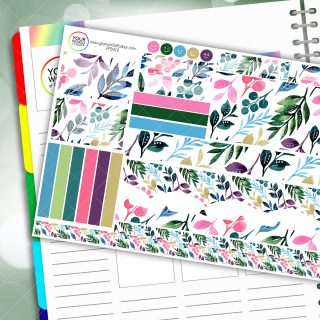 Colourful Leaves Passion Planner Daily Sticker Kit