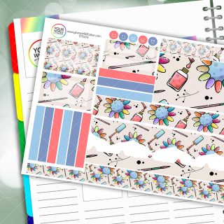Manicure Passion Planner Daily Sticker Kit