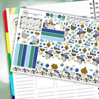 Herbology Owl Passion Planner Daily Sticker Kit
