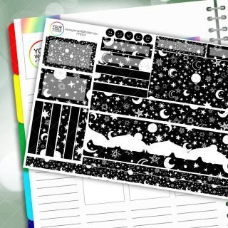 Stars and moon Passion Planner Daily Sticker Kit