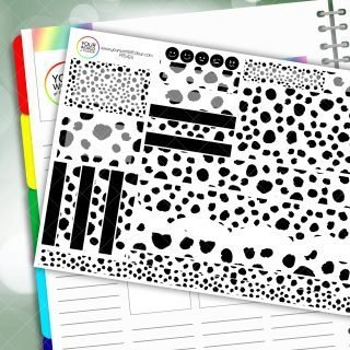 Dalmation Passion Planner Daily Sticker Kit