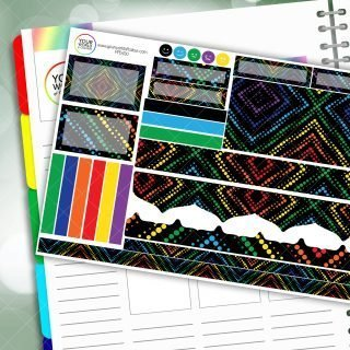 Diamond Rainbow Passion Planner Daily Sticker Kit